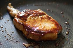 pork cutlet & blend smoked honey.