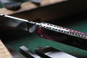 Le Chanoy couteau artisan cran plat
