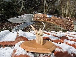 Couteau de chasse a palme