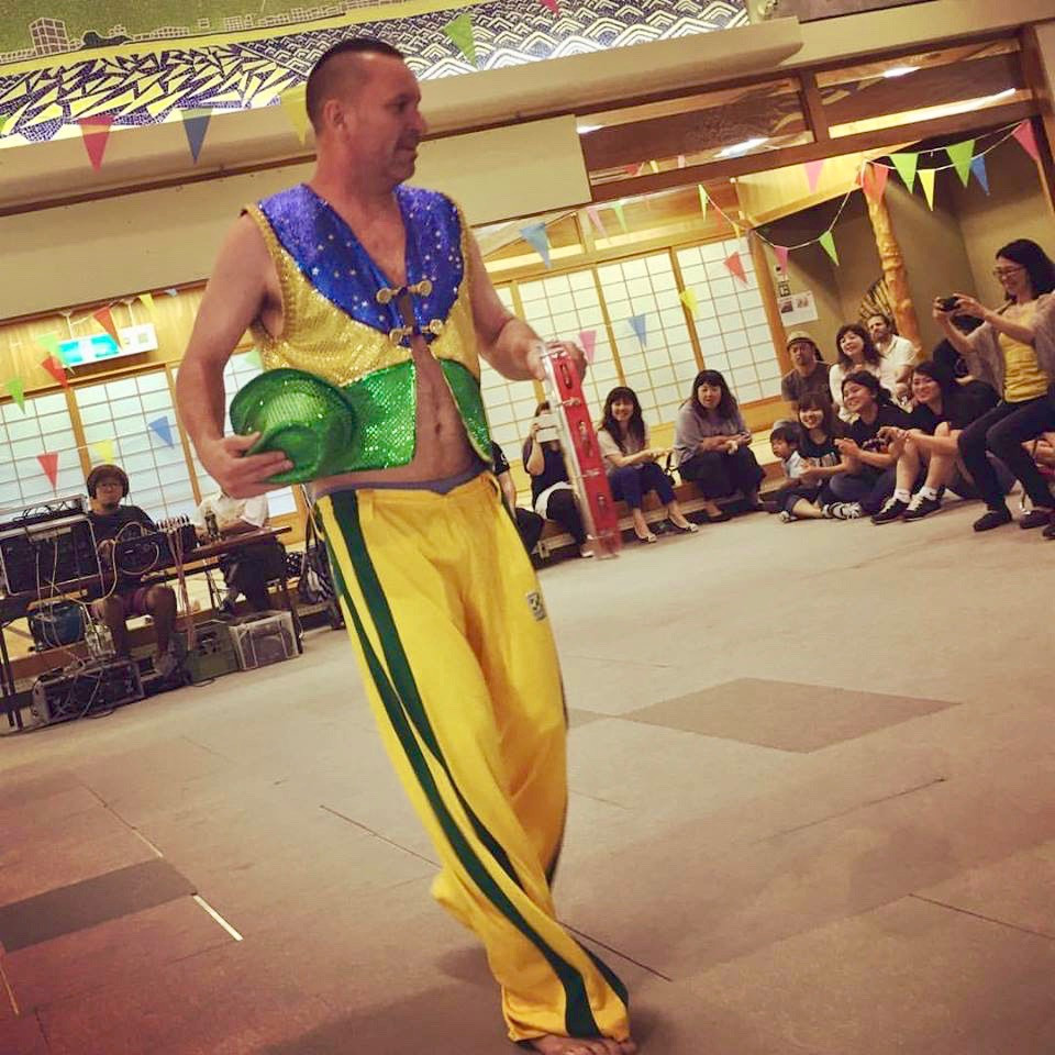 Mestre Sucuri Samba Show in Okinawa