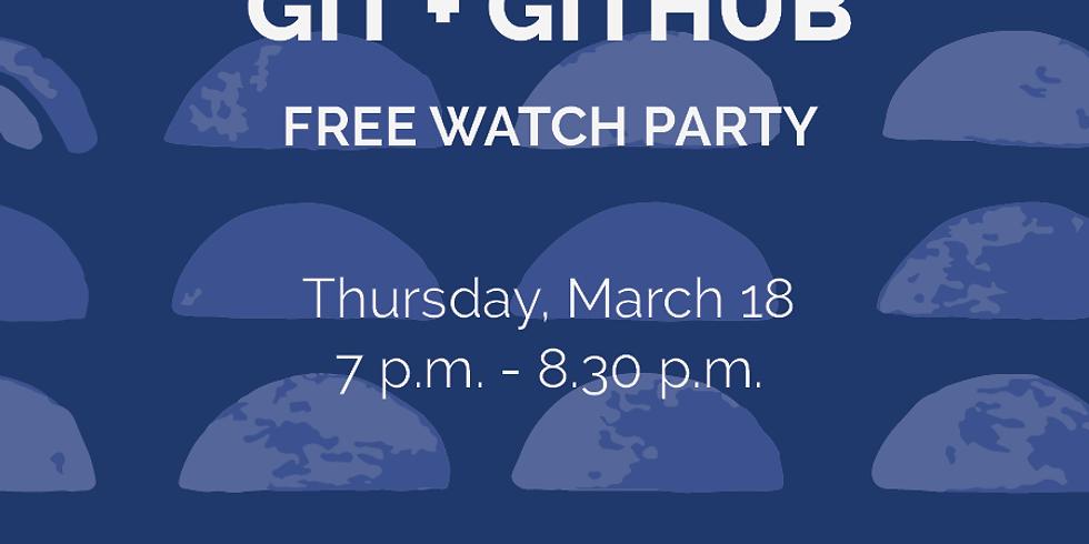 GitHub/Git Freecodecamp Watch Party