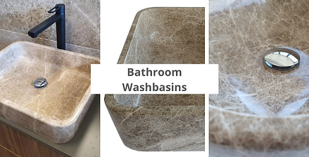 Rujan marble bathroom washbasins