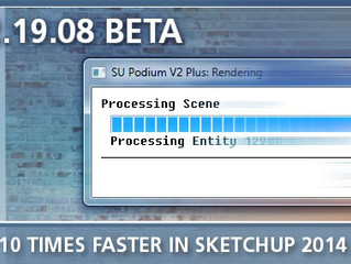 SU Podium V2.19.08 BETA for SketchUp 2014 & 2015 (Win/Mac) is still available!