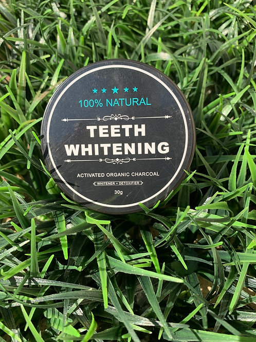 Charcoal Teeth Whitening Powder + Bamboo Toothbrush(Free)