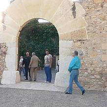En la puerta