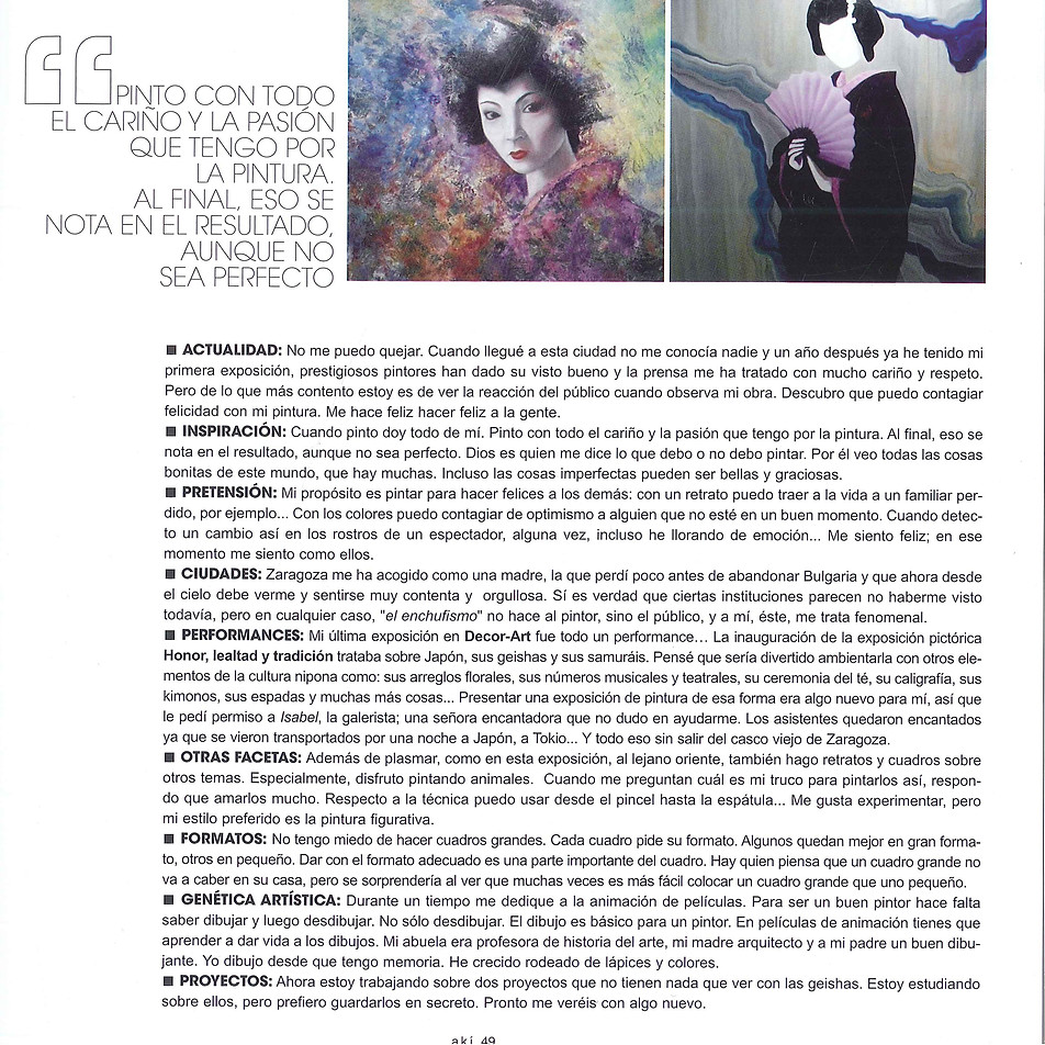 Aki Zaragoza (reportaje)