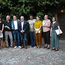 Finalistas con el alcalde de Salou Pere Granados