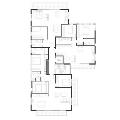 תכנית קומה טיפוסית  סוג: תוספת קומות לפי תכנית הרובעים שנת סיום: בתכנון