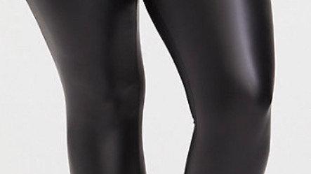 Faux leather leggin