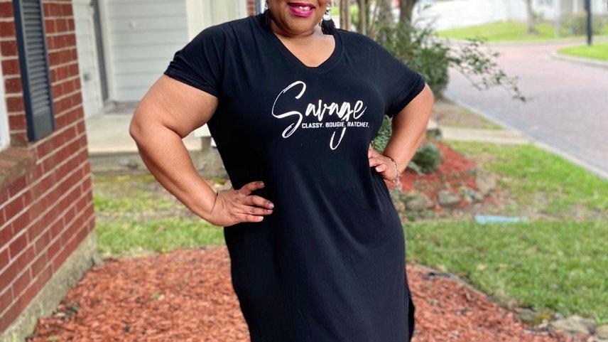 Savage Tee -Shirt Dress