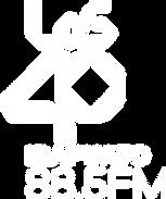 Logo Los 40 (Todo Blanco Vertical).png