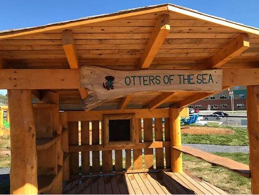 Seaside Shelter and Chalkboard