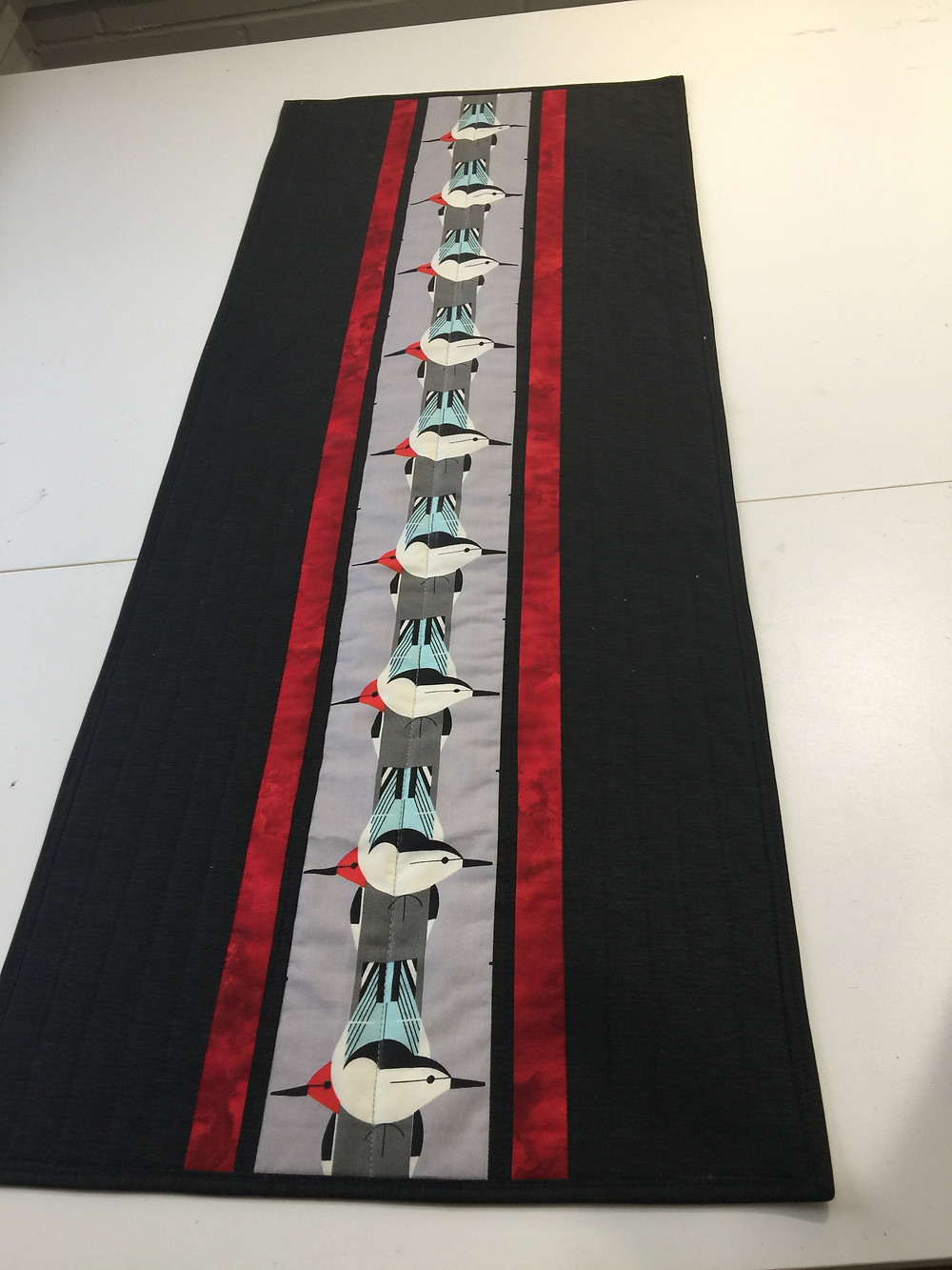 A table runner that can be made in under two hours.