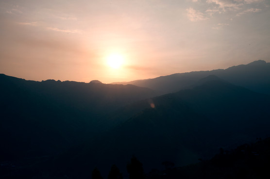 Sunset in the Rwenzori Mountains.
