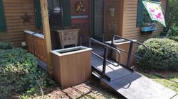 custom deck porch flower boxes