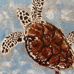 Be Right Back Mom-Turtle-Contemporary Art Painting