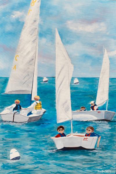 Sailing School Annapolis Maryland Painting