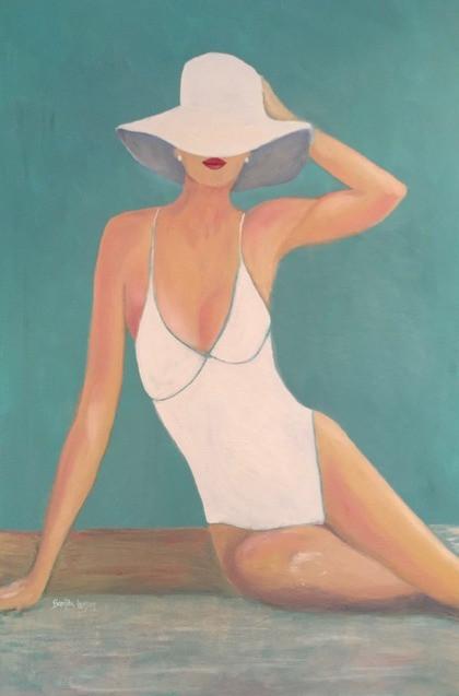 Pearl On The Beach-Coastal Painting-Contemporary Art