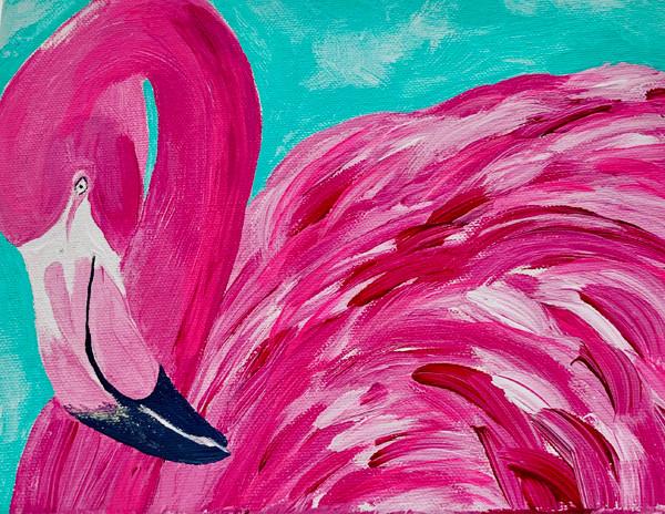 Ester-Flamingo-Coastal Painting Contemporary Art