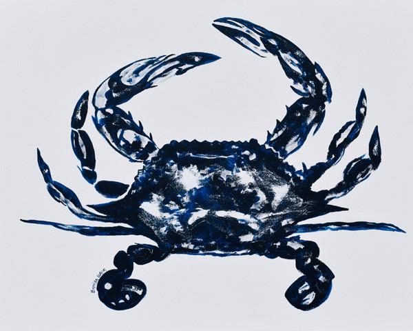 Blue Crab-Coastal Contemporary Art Painting