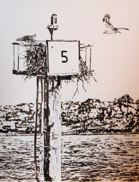 Coming Home-Osprey-Contemporary Coastal Art Painting