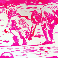 Beach Babes-Coastal Painting-Contemporary Art
