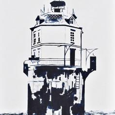 Sandy Point Shoal Lighthouse-Annapolis Maryland-Contemporary Art