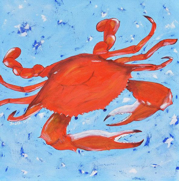 USA USA USA-Crab-Coastal Contemporary Art Painting