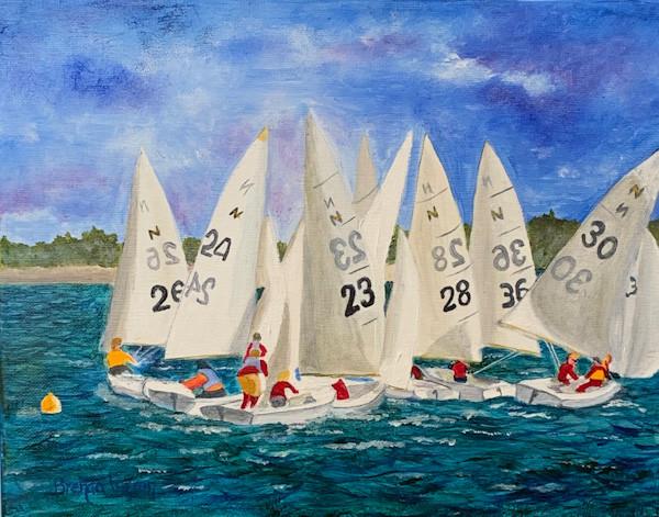 Sailing On The Severn-Annapolis Maryland-Coastal Painting-Contemporary Art