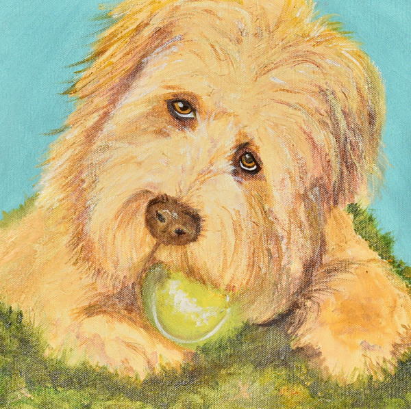 Fetch-Dog-Contemporary Art Painting