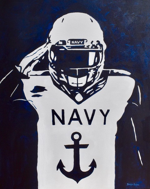 Go Navy Beat Army-Naval Academy Painting-Contemporary Art