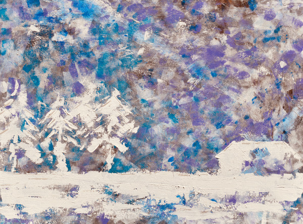 Snow Storm In The Woods-Contemporary Art