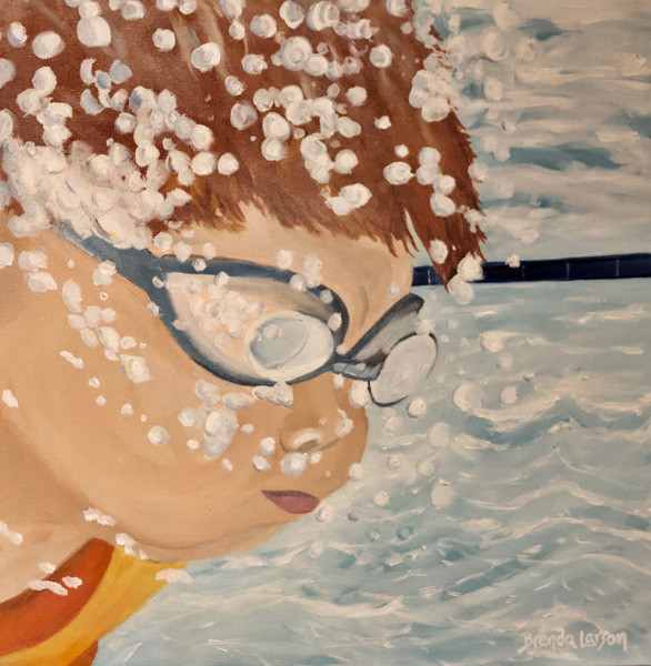 Bubble Boy-Swimming-Coastal Paiting-Contemporary Art