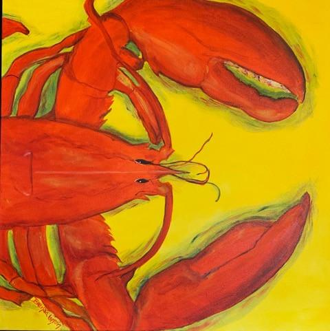 Lobster-Coastal Painting-Contemorary Art