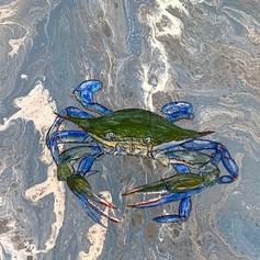 Crabby #3-Coastal Contemporary Art Painting
