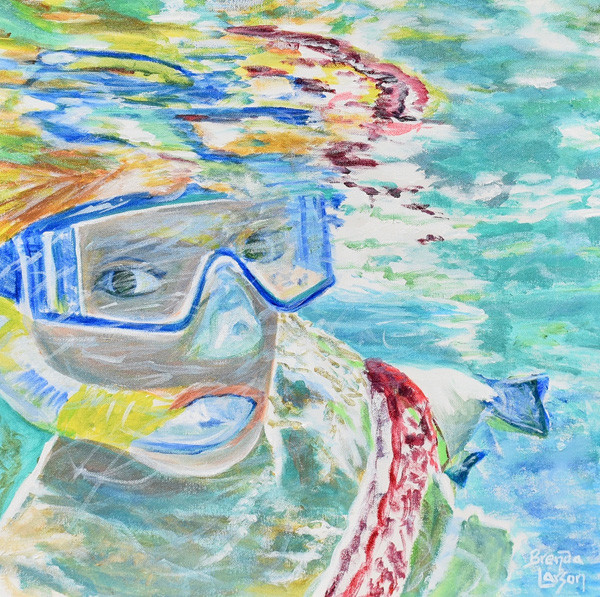 Snorkel In The Pool- Contemporary Art