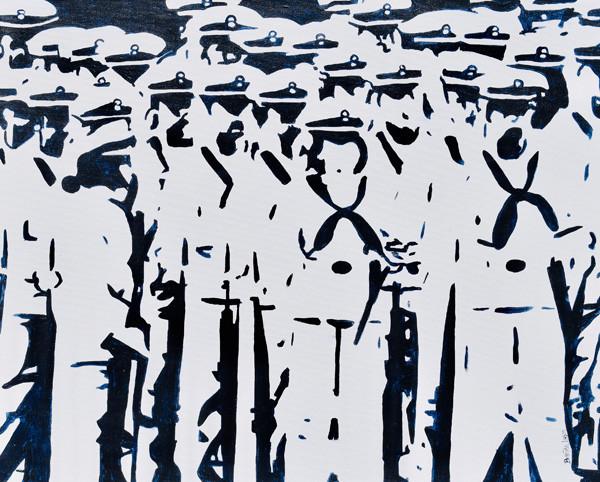 Plebe Parade - Naval Academy Painting-Contemporary Art