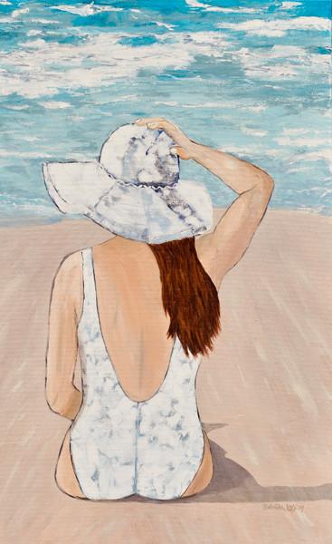 It's Windy On The Beach-Contemporary Art-Coastal Painting