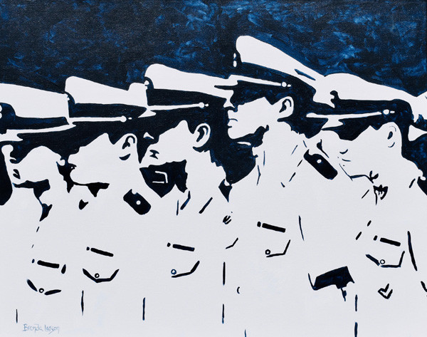 In-Formation-Naval Academy Painting-Contemporary Art