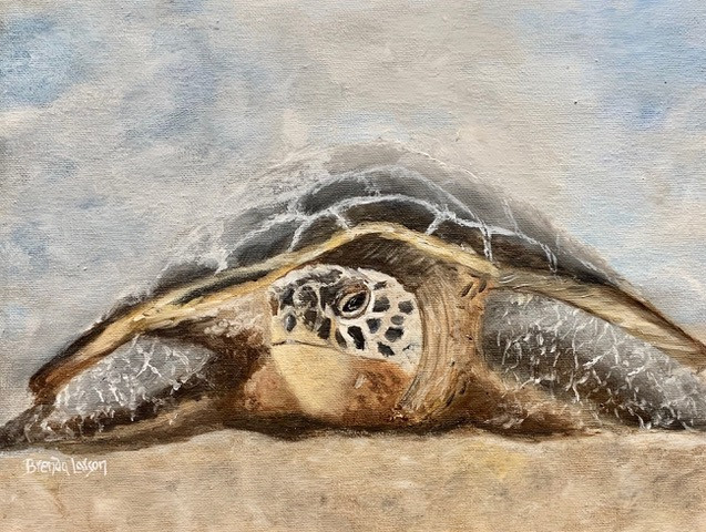 Slow Terp-Turtle-Contemporary Art Painting
