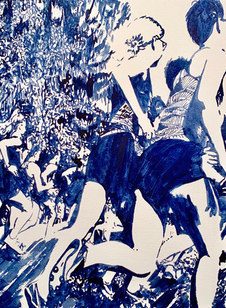 Beat You There-Runners Painting-Contemporary Art