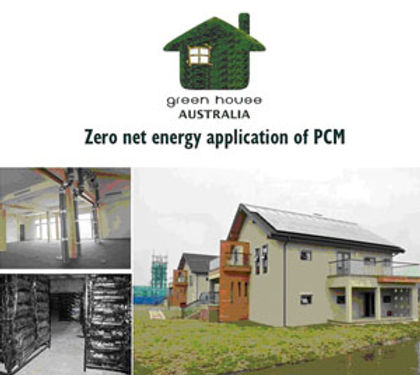 Zero net energy application of PCM