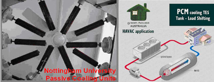 H VAC application of PCM