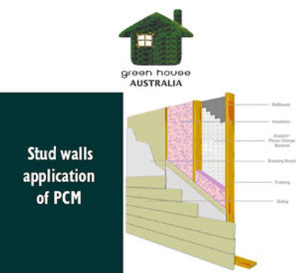 stud walls application of PCM