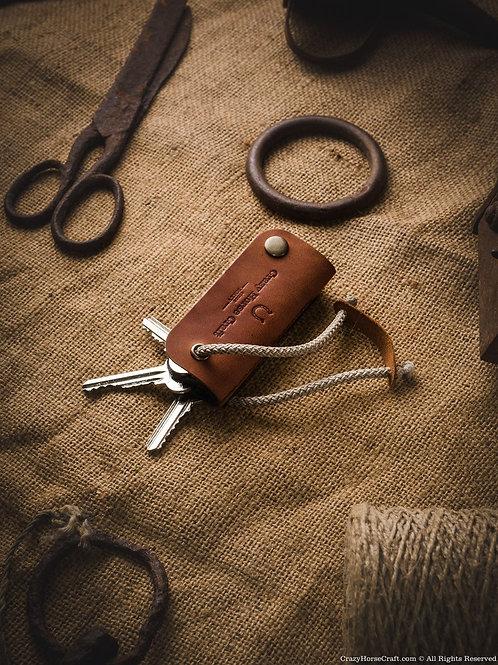 Leather Key Organizer & Holder Classic Brown