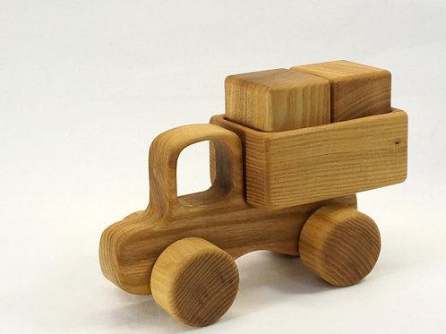 木のおもちゃ_トラック