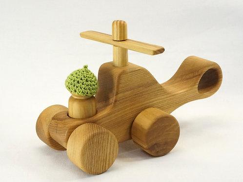 木のおもちゃ_ヘリコプター