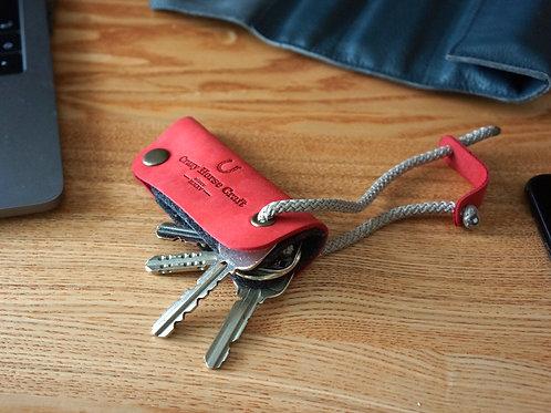 Leather Key Organizer & Holder Autumn Red