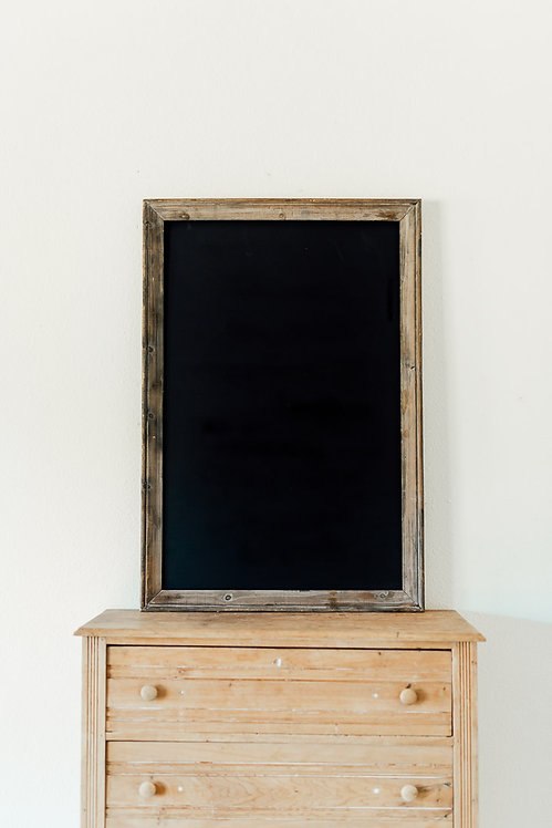 Grey Wood Chalkboard