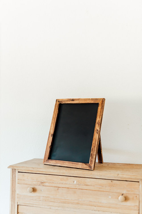 Wood Freestanding Chalkboard